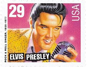 1993 29c Legends of American Music: Elvis Presley