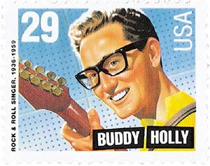 1993 29c Buddy Holly,single