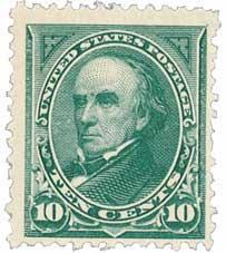 1895 10c Webster, double line watermark