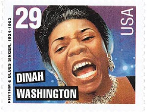 1993 29c Dinah Washington,single