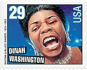 1993 29c Legends of American Music: Dinah Washington, booklet single