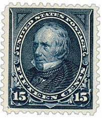 1895 15c Clay, dark blue, double line watermark