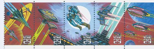 1993 29c Space Fantasy