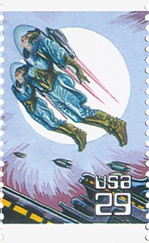 1993 29c Space Fantasy: Rocketeers