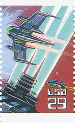 1993 29c Space Fantasy: Winged Spaceship