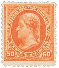 1895 50c Jefferson, double line watermark