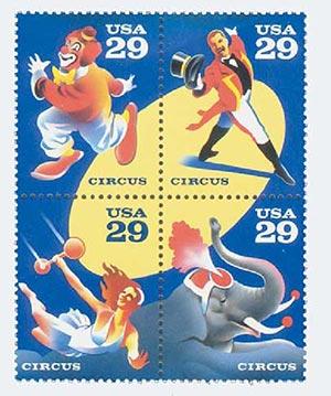 1993 29c Circus