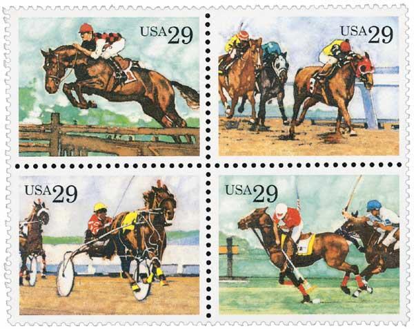 1993 29c Sporting Horses