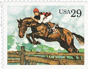1993 29c Sporting Horses: Steeplechase