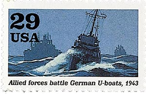 1993 29c World War II: Allied Forces Battle German U-boats