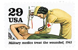1992 29c World War II: Military Medics Treat the Wounded