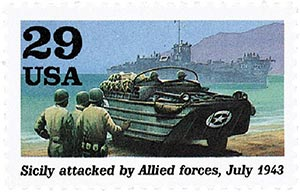 1992 29c World War II: Sicily Attacked by Allied Forces