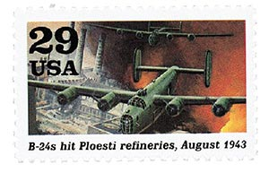 1992 29c World War II: B-24s Hit Ploesti Refineries