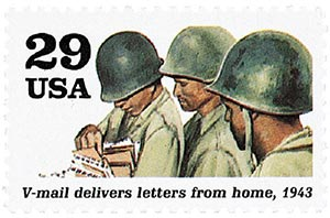1992 29c World War II: V-mail Delivers Letters from Home