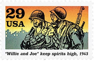 "1992 29c World War II: ""Willie & Joe"" Keep Spirits High"