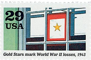 1992 29c World War II: Gold Stars Mark World War II Losses