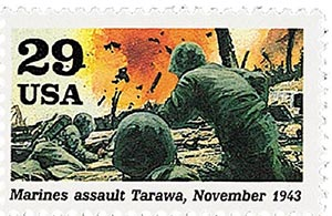 1993 29c Marines assault Tarawa