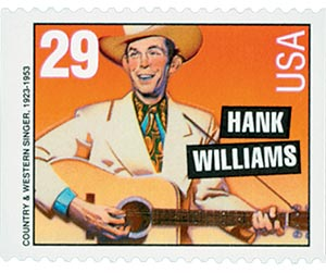 1993 29c Country Music Legends: Hank Williams, booklet single
