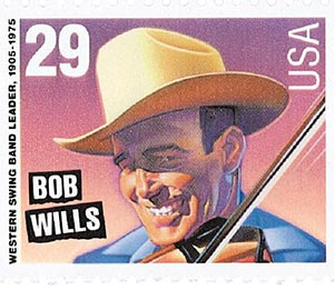 1993 29c Country Music Legends: Bob Wills, booklet single