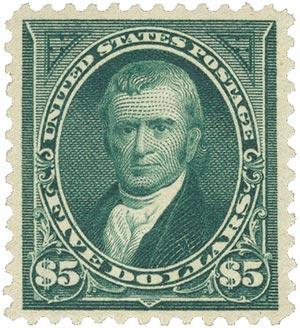 1895 $5 Marshall, DL Wmrk