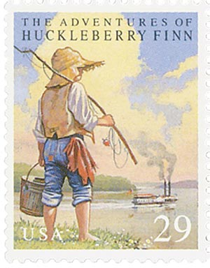 1993 29c Classic Books: The Adventures of Huckleberry Finn
