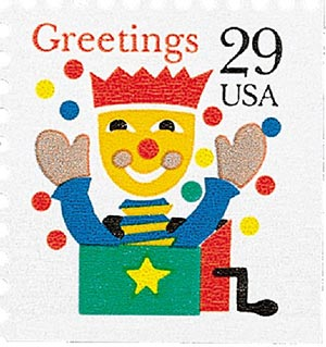 1993 29c Contemporary Christmas: Jack in the Box, booklet single