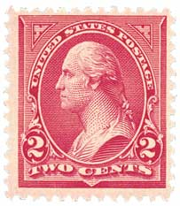 1899 2c Washington, Double Line watermark, Type IV