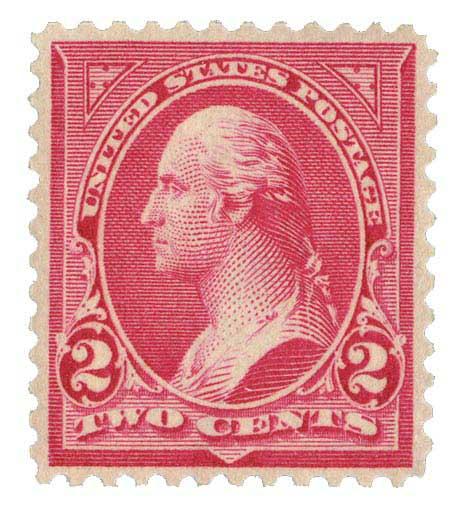 1899 2c rose carmine