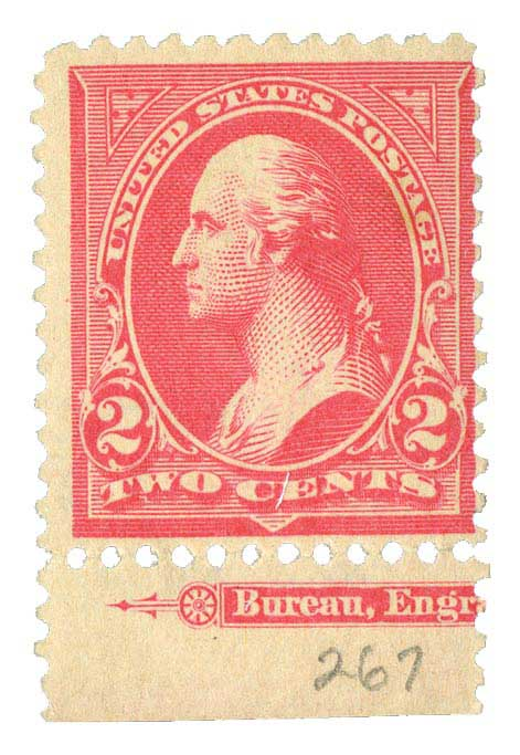 1897-98 2c Washington, carmine, double line watermark, type IV