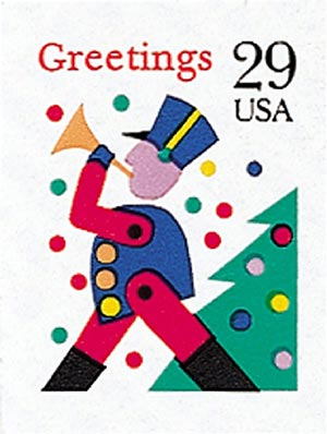 1993 29c Contemporary Christmas: Soldier, self-adhesive