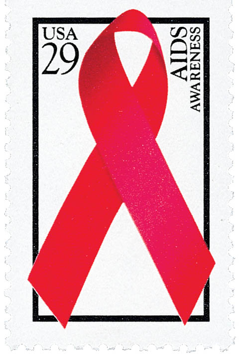 1993 29c AIDS Awareness, bklt single