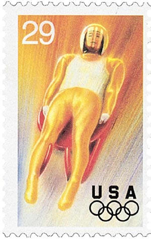 1994 29c Winter Olympics: Luge
