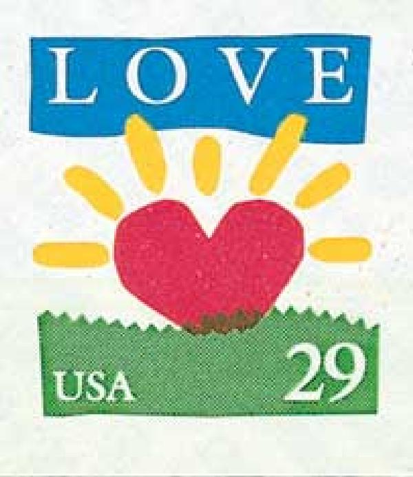 1994 29c Love Series: Heart Sunrise