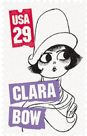 1994 29c Silent Screen Stars: Clara Bow