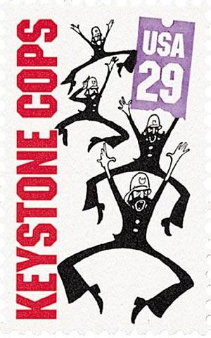 1994 29c Silent Screen Stars: Keystone Cops