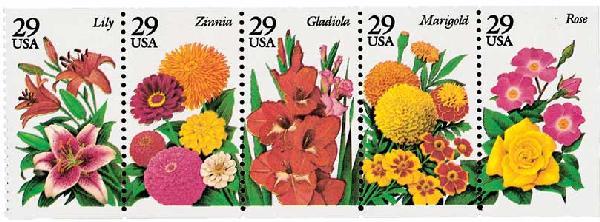 1994 29c Summer Garden Flowers