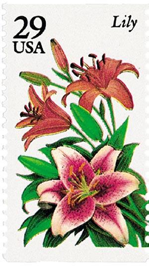 1994 29c Summer Garden Flowers: Lily
