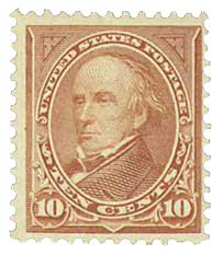 1898 10c Webster, brown, type I