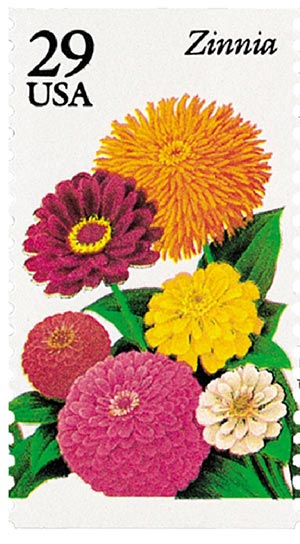 1994 29c Summer Garden Flowers: Zinnia
