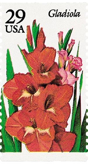 1994 29c Summer Garden Flowers: Gladiola