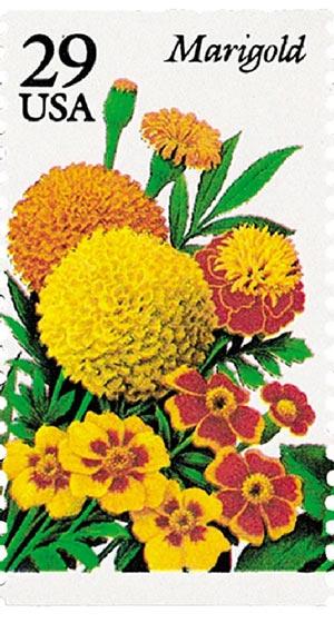 1994 29c Summer Garden Flowers: Marigold