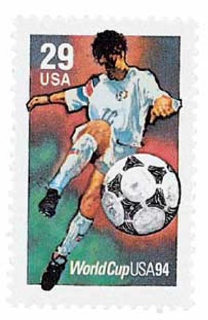 1994 29c World Cup Soccer: Kicking the Ball
