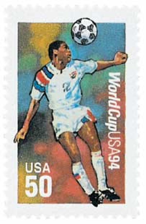 1994 29c World Cup Soccer: Heading the Ball