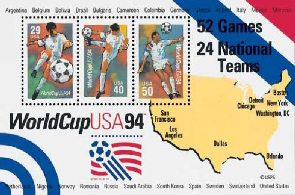 1994 World Cup Soccer Championships, souvenir sheet