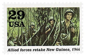 1994 29c WWII: Allied Forces Retake New Guinea