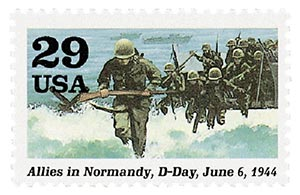 1994 29c WWII: Allies in Normandy, D-Day