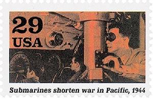 1994 29c WWII: Submarines Shorten War in Pacific