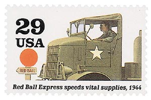 1994 29c WWII: Red Ball Express Speeds Vital Supplies