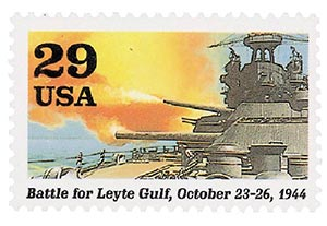 1994 29c WWII: Battle of Leyte Gulf