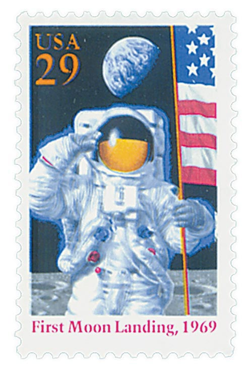 1994 29c Moon Landing, single stamp
